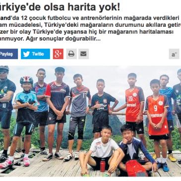 """""""Türkiye'de Mağaraların Haritası Yok"""" Haberleriyle İlgili Basın Bildirisi"""