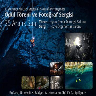 Mehmet Ali Özel Mağara Fotoğrafları Yarışması Ödül Töreni ve Sergi